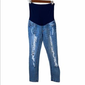 S.O.N.G. Maternity Distressed Skinny Jeans